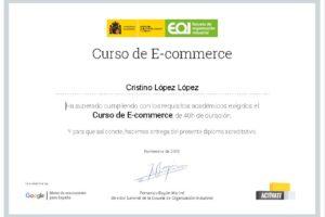 Curso de Comercio electrónico del EOI a través de Google/Activate